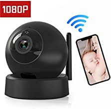 Wireless IP Camera Indoor Home Security Camera, 1080P Dome Cam with Surveillance System Remote Monitoring for Baby/Elder/Pet/Nanny Monitor, Pan/Tilt, Two-Way Audio and Night Vision