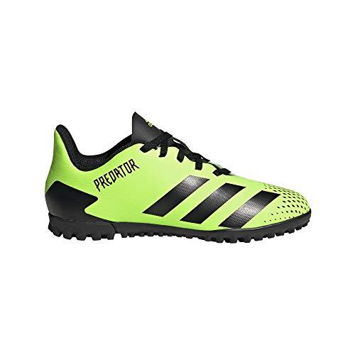 adidas Predator 20.4 TF J, Zapatillas de fútbol, Signal Green Core Black Core Black, 35.5 EU