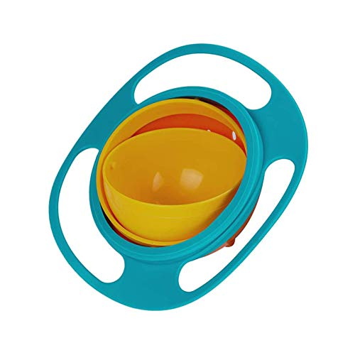 DN BROTHERS Gyro Bowl for Baby and Kids, 360 Degree Rotation Spill Proof Food Bowl, Multicolor, Pack of 1