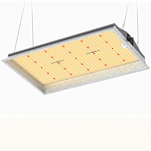 MAXSISUN MF1000 Grow Light, 100 Watt LED Grow Lights for Indoor Plants Full Spectrum with Samsung Diodes and Mean Well Driver Remote Control Dimmable Growing Lamps for a 2'x2' Grow Tent Veg & Bloom