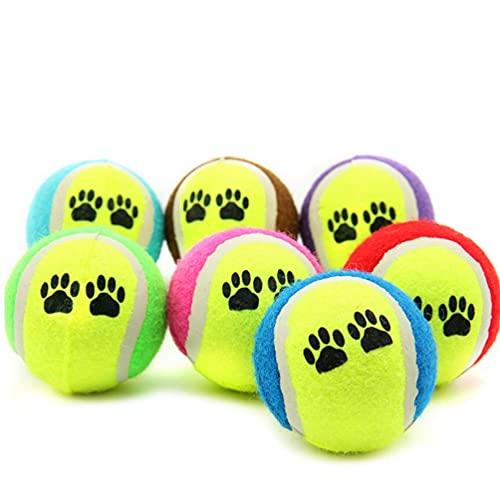 1pc Animal Doméstico del Perro del Gato De Juguete Pelotas De Tenis Ejecutar Captura Throw Juego Divertido Chew Toys Animales Levert Color Azar