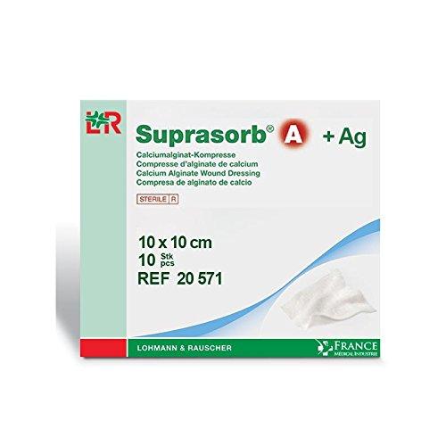 Pflaster Alginat von Calcium + Silber SUPRASORB® A 10x 10cm Packs von 10–20571