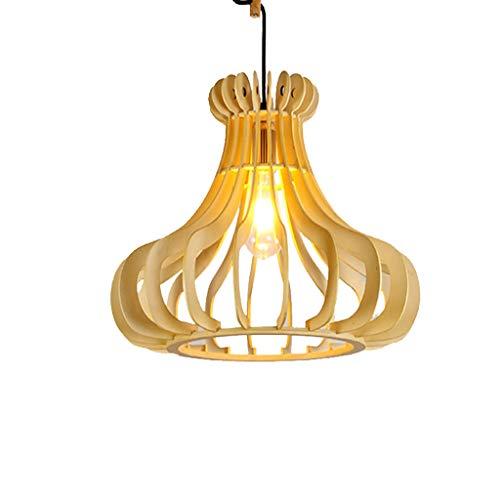 LJF lamp Lámparas colgantes de madera maciza, luces decorativas para dormitorio, luces decorativas individuales, clase energética A++