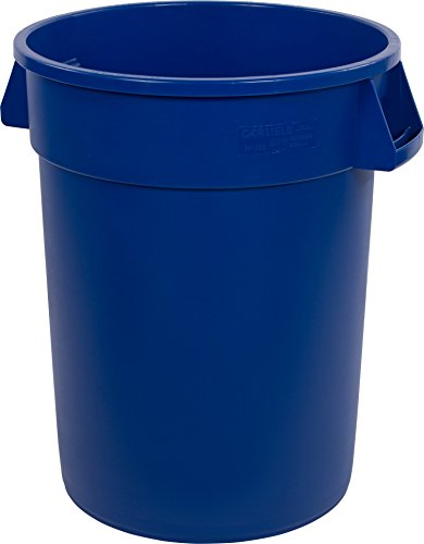 Carlisle 34103214 Bronco Round Waste Container Only, 32 Gallon, Blue