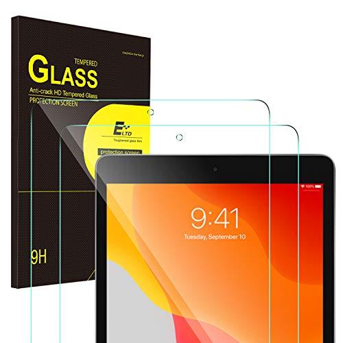 ELTD Protector de Pantalla para iPad 7 (10,2 Pulgadas, 2019 Modelo, 7ª Generación)/iPad Air 3 (10,5 Pulgadas Modelo 2019)/iPad Pro 10,5 (2017), Vidrio Templado, 2 Pack