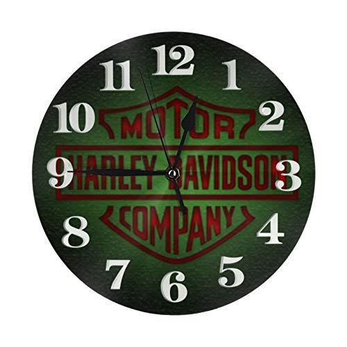 Orologio da parete rotondo Harley Davidson silenzioso senza ticchettio decorativo colorato orologio da parete facile da leggere per aule, camera dei bambini, scuola