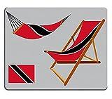 Alfombrilla de ratón para Juegos ID de Imagen: 25270995 Trinidad y Tobago Hamaca y Tumbona contra un Fondo Gris Ilustración de Arte Vectorial Abstracto