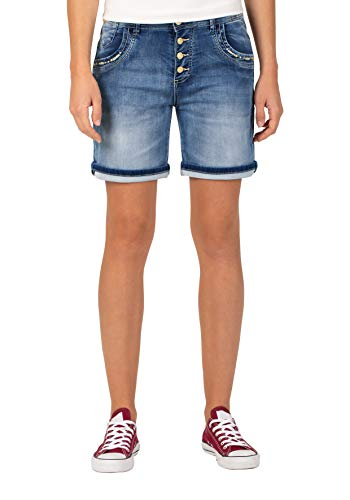 Timezone Damen Regular JillyTZ Shorts, Blau (Aqua Blue Wash 3039), W32(Herstellergröße: 32)