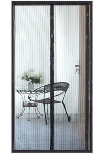 Muggen hordeur hor gaas net voor deur 210cm x 100cm zwart Bug screen met magnetische sluiting / HaverCo