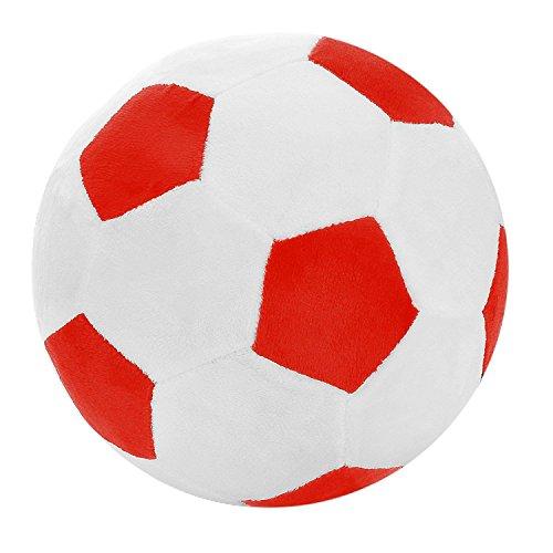 Notewisher Almohadilla de Tiro de Futbol Bola de los Deportes de Peluche Juguete de Peluche Suave para ninos Regalo para ninos, 8 Pulgadas L X 8 Pulgadas An X 8 Pulgadas Al, Rojo