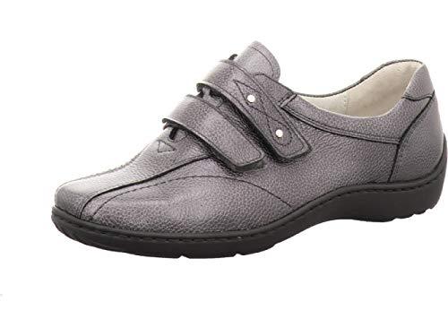 Waldläufer Women Sneaker Henni Anthracite US L9.5 Shoe Width H = for Stronger Foot Grey