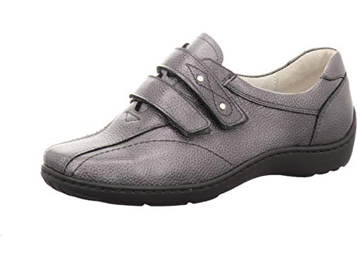 Waldläufer Women Sneaker Henni Anthracite US L8 Shoe Width H = for Stronger Foot Grey