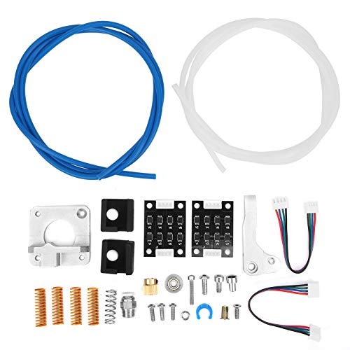 3D Printer Accessories Kit for CR-11 CR10S 3D Printer, Including Aluminum Block, Spring, Silicone Cover, PETG Tube, Degausser, Line, and so on