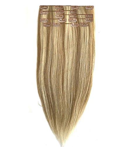 Extension a Clip Blond trés clair méché - 50/55 cm
