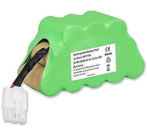 Amityke 14.4V 3.0Ah Battery Compatible with Shark XBT1106 SV1106 SV1112 Freestyle Navigator Cordless Stick Vacuum