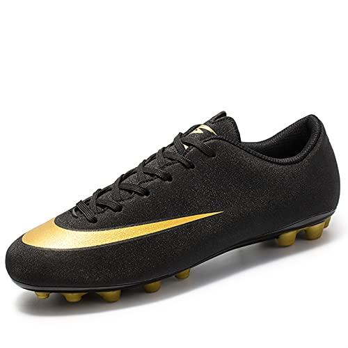 Zapatos de fútbol - Fútbol atlético para Hombres Interior al Aire Libre césped Turf Cómodo Fútbol Competencia Botas/Entrenamiento Sneaker -Soft Confortable Fit Flexible FG/TF Teenager Soccer