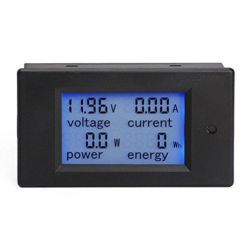 DROK Multimetro digitale DC 6.5–100V 20A Tensione Corrente Potenza Energy Meter Gauge DC Volt AMP Test Display digitale LCD con retroilluminazione blu di misurazione volt corrente con Built-in Shunt