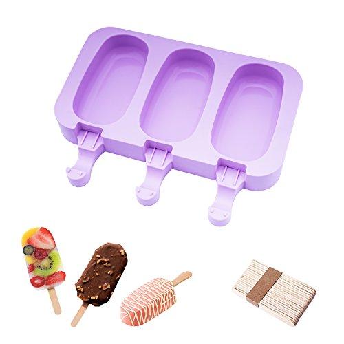 Eisformen Bpa Frei Oval Klassik Eisform Rund Lila Eisformen Silikon Mit Holz Popsicle Sticks beicemania