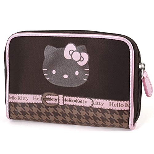 Hello Kitty Portefeuille chocolat pied de poule by Camomilla