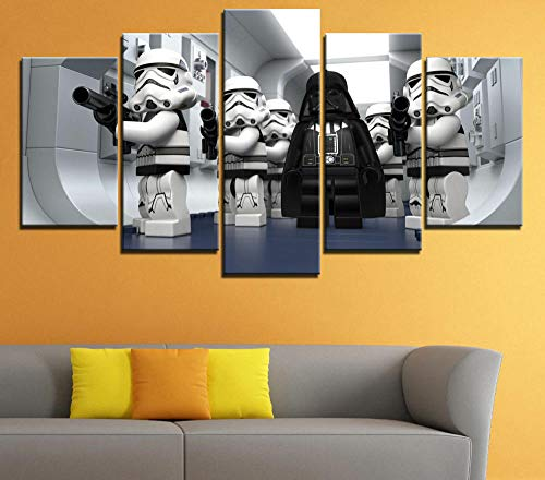 45Tdfc 5 Unidades Pictures Lego Star Wars Droid Tales Painting Home Decor Modern Wall Art Canvas HD Prints Frame Modular Poster