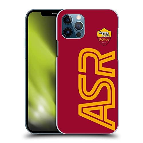 Head Case Designs Licenza Ufficiale AS Roma Smisurato Grafiche Cover Dura per Parte Posteriore Compatibile con Apple iPhone 12 / iPhone 12 PRO