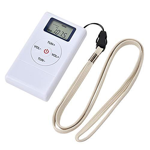Mini radio FM, chip digital estéreo Dsp de 108 MHz con cordón para auriculares, frecuencia de recepción exacta, conveniente para senderismo y caminar