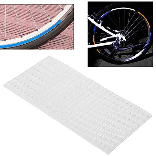 SALALIS Pegatinas Reflectantes para Bicicletas, Seis Colores Son de Libre elección Cree Usted Mismo un Estilo único Reflector de radios de Bicicleta para Frenos de Disco y Frenos en V(Silver)