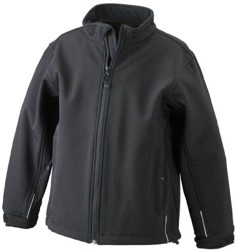 James & Nicholson Jungen Sportwear Set Softshelljacke schwarz (black) XXL (158/164)