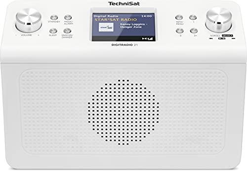 TechniSat DIGITRADIO 21 - DAB+ Unterbau-Küchenradio (DAB+, UKW, 2,8' Farbdisplay, Favoritenspeicher, Wecker, Kopfhöreranschluss) weiß