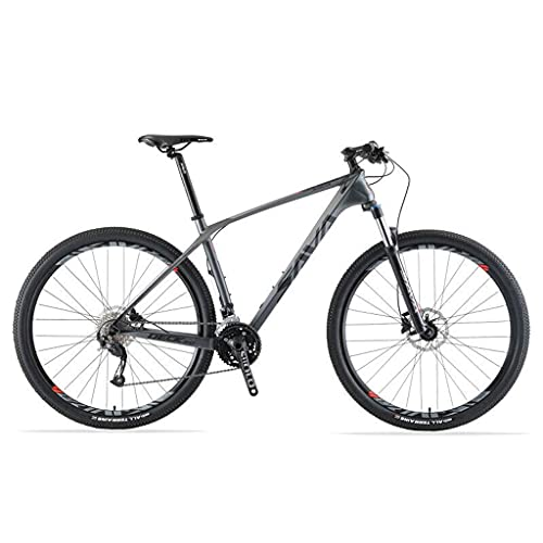 N&I Mountain Bike in fibra di carbonio DECK2.0 MTB 26'/27,5'/29' Complete Hard Tail Mountain Bicycle 27 Speed con M2000 Group Set Red 29'