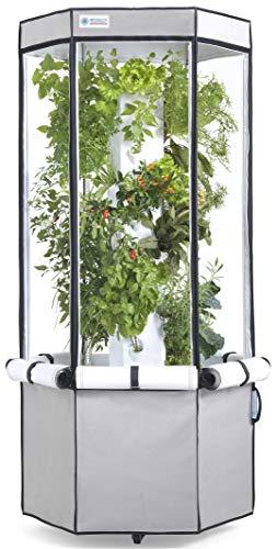 Aerospring 27-Plant Vertical Hydroponics Indoor Growing System – Patented Vertical Hydroponic Kit for Indoor Gardening – Grow Tent, LED Grow Lights & Fan – Grow Lettuce, Herbs, Veggies & Fruits
