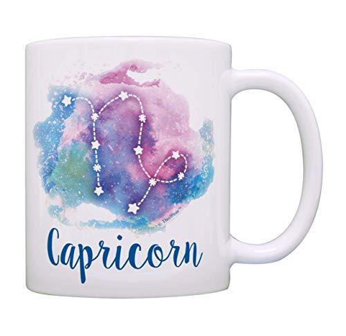 Steinbock Sternzeichen Tasse Steinbock Sternzeichen Kaffeebecher Steinbock Tasse Galaxie Kaffeetasse Teetasse Pastell
