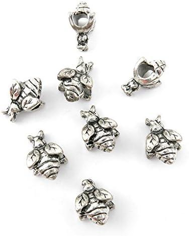 5pcs Antique Brass Metal Pendant Charm Jewelry Findings Flat Round 44x39x3mm YB