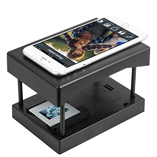 Rybozen Mobile Film and Slide Scanner, Converts 35mm Slides & Negatives into Digital Photos with Your Smartphone Camera, Interesting Presents and Toys with LED Backlight(2AA Batteries not Included