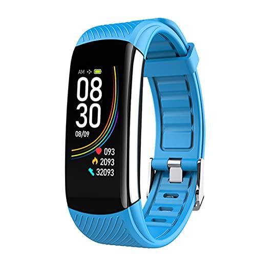 WPH Reloj De Pulsera Inteligente De Temperatura Corporal C6T Monitor De Ritmo Cardíaco Impermeable Monitor De Banda Inteligente Pulsera Fitness Tracker Smartwatch para Android iOS,B