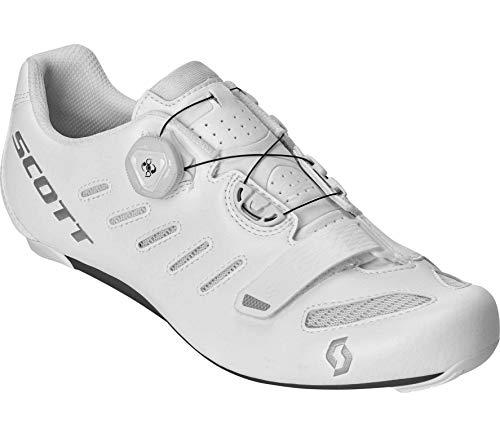 SCOTT 270594 - Zapatillas de Ciclismo, Unisex Adulto, Blanco y Plateado, 41