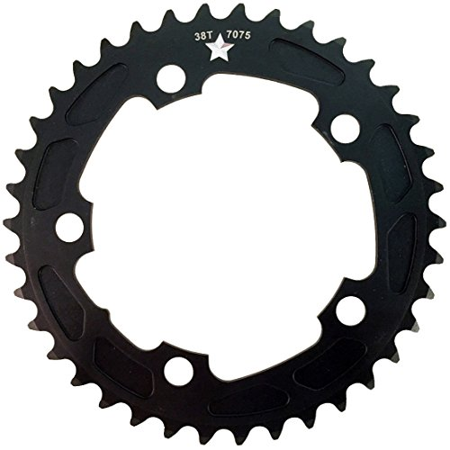 USAMade 110 mm BCD 5-Bolt SharkTooth Pro CXR Road/Cross Chainring Made in USA (46 Tooth)