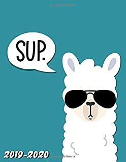Sup 2019-2020: Turquoise Llama Alpaca Weekly Monthly 2019-2020 Academic Planner & Yearly Organizer with Inspirational Quotes, Course Schedule, Vision Boards, Notes, To-do's and More.