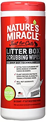 Nature's Miracle Just for Cats Litter Box Scrubbing Wipes, 30 Count (NM-5574)