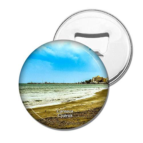Weekino Golden Beach Larnaca Zypern Bier Flaschenöffner Kühlschrank Magnet Metall Souvenir Reise Gift