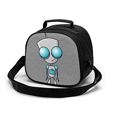 Invader Zim Children'S Meal Bag Lunch Bag-Waterproof And Reusable Lunch Box Portable Meal Bag Ice Bag, Suitable For Children Boys And Girls.