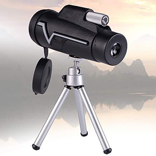 Telescopio Monoculares de Largo Alcance 12 x 50 HD Monocular Impermeable Monoculo Telescopio Portatil con Adaptador de Soporte para Smartphone y Trípode, para Observación de Pájaros, Caza, Camping