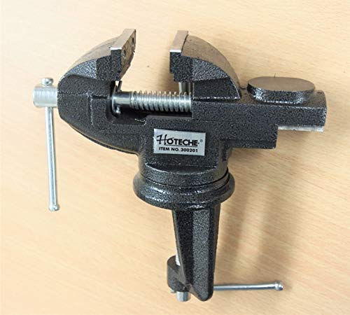2'' inches Jaws Table Bench Top Vise Vice Swivel Base with Anvil (1)