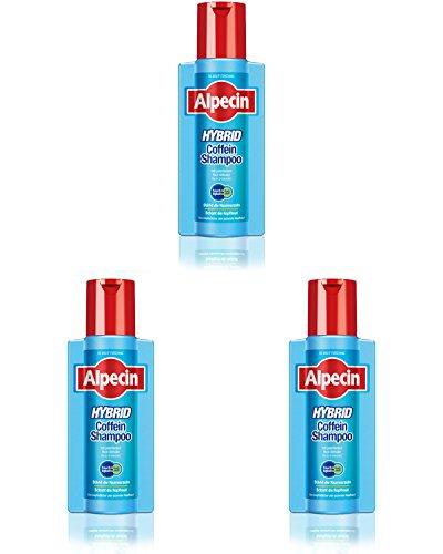 Alpecin Shampoo ibrido alla caffeina, 3 x 250 ml.