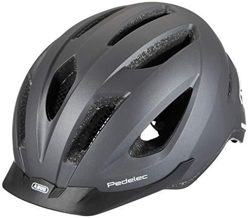 ABUS Pedelec 1.1 Stadthelm - Fahrradhelm mit Rücklicht für den Stadtverkehr - für Damen und Herren - 81907 - Titan (gräulich), Größe M