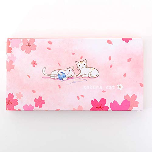 RONSHIN 6 Stks/doos Sticky Opmerkingen Mooie Kat Zelfklevende Memo Sticker Papier Student Office benodigdheden Kantoor Product as shown Speelse kat