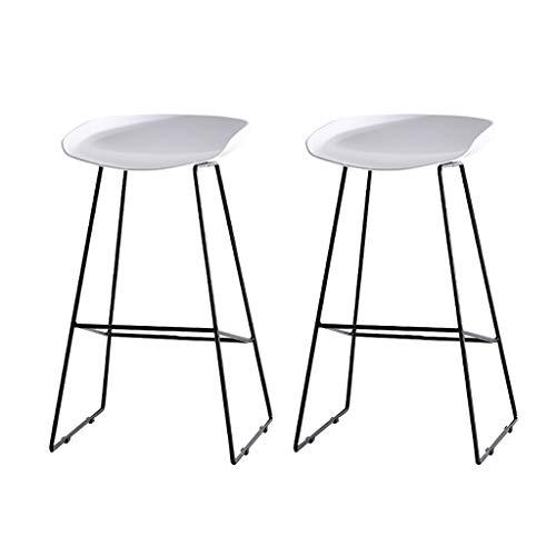 HQCC Chaise de bar moderne minimaliste boutique de téléphone mobile tabouret de bar chaise de bar de mode créatif tabouret de bar en fer forgé (47 * 73cm / 47 * 83cm) (Couleur : Blanc)