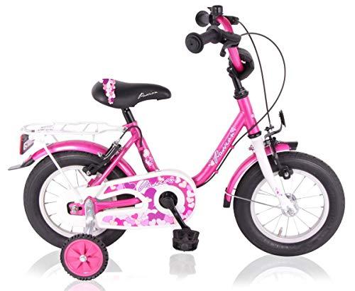 T&Y Trade 14 Zoll Kinderfahrrad Mädchenfahrrad Kinder Mädchen Fahrrad Rad Bike Kinderrad Rücktritt Rücktrittbremse Passion PINK