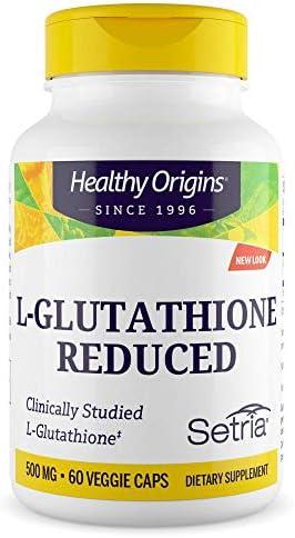 Healthy Origins L-Glutathione (Setria) 500 mg, 60 Capsules