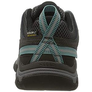 KEEN womens Targhee 3 Low Height Waterproof Shoe Hiking Boot, Alcatraz/Blue Turquoise, 8 US
